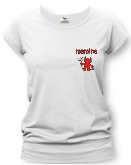 16fbf47174cf Dámske tričko - mamina - čertica