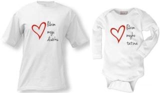 Tričko body - Ľúbim moju dcérku tatina a729084317